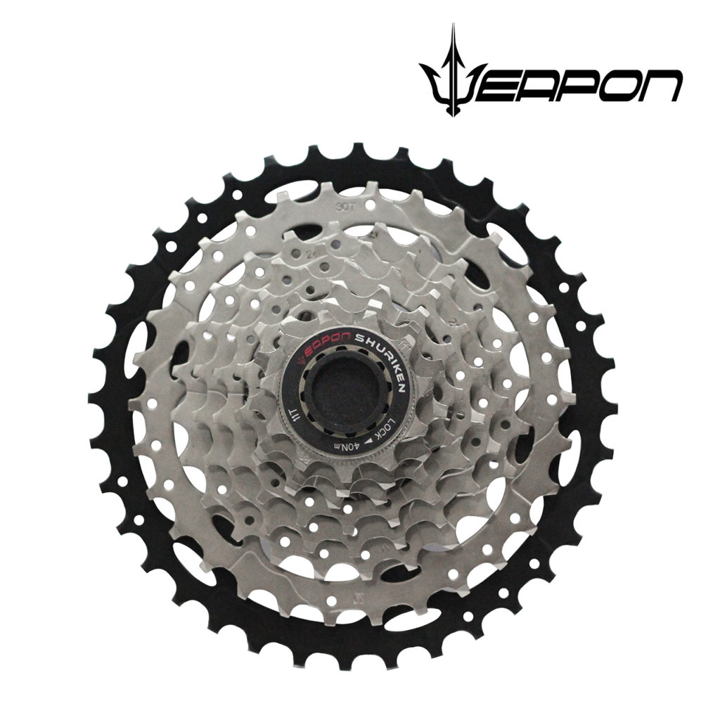 Weapon Cassette - 8 speed - Silver Black